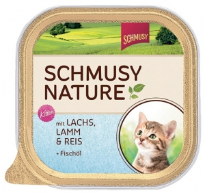Schmusy Cat Nature Kitten losos + jehněčí 100g