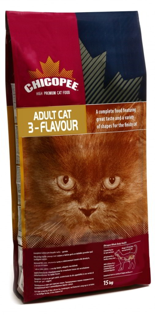Chicopee Cat Dry Adult 3-Flavour 15kg