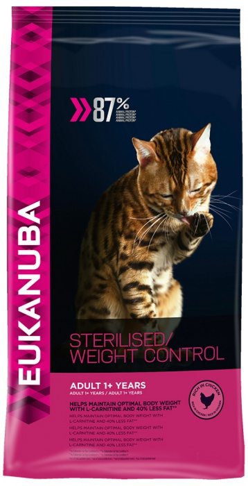 Eukanuba Cat Adult Chicken Sterilised / Weight Control 1,5kg