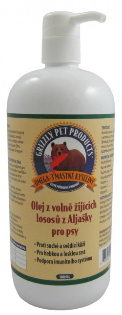 Grizzly Wild Salmon lososový olej pes 500ml