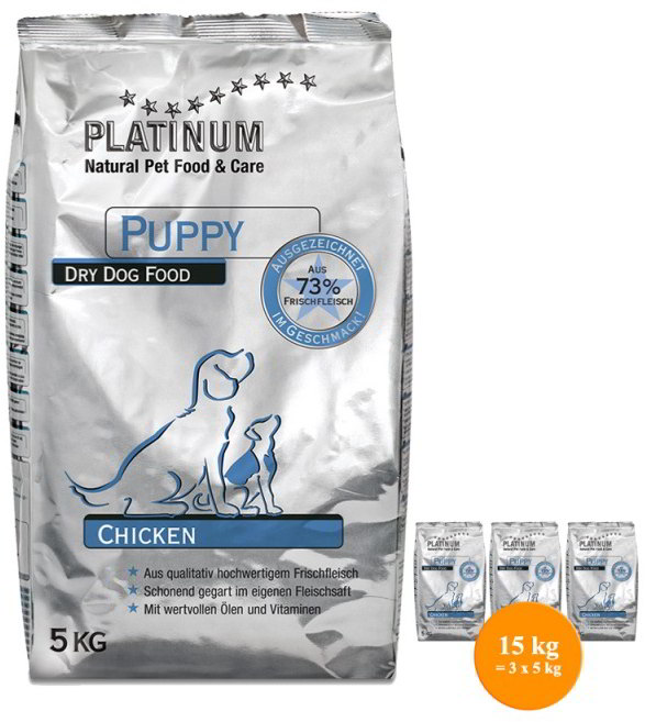 PLATINUM Natural Puppy Chicken 15kg