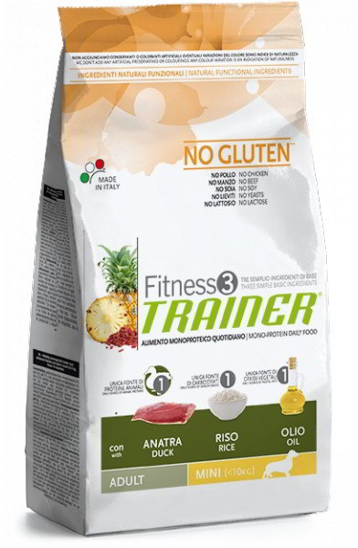 Trainer Fitness Adult Mini No Gluten Duck Rice 2kg