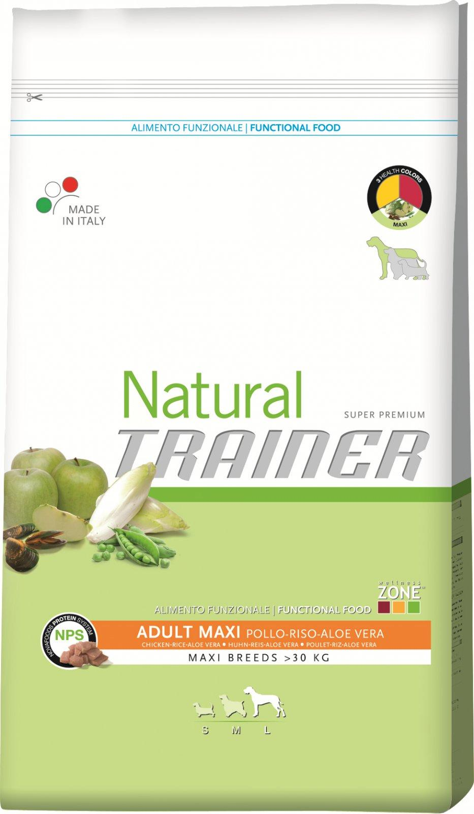 Trainer Natural Maxi Chicken Rice Aloe 12,5kg